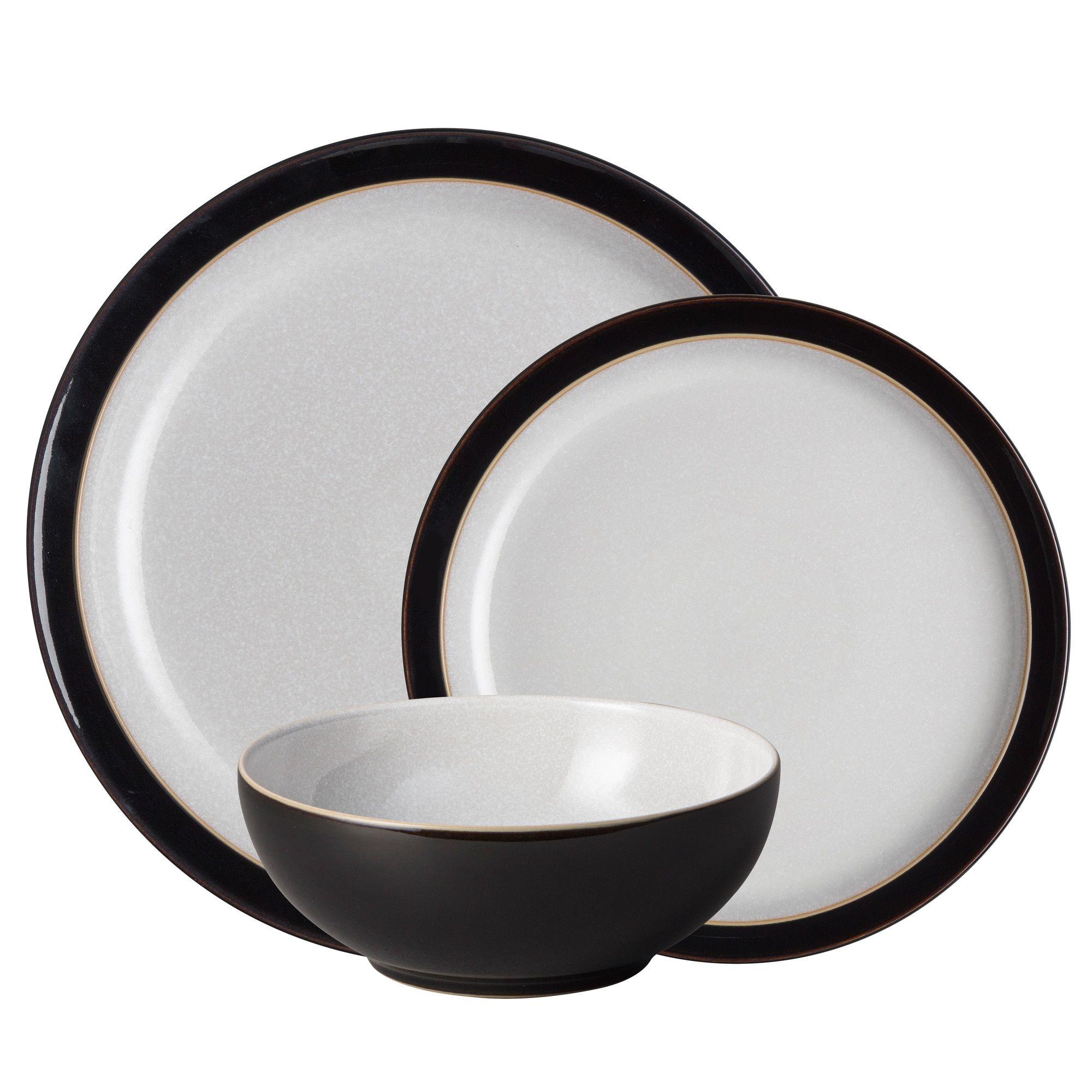 Elements Black 12 Piece Tableware Set Dinner Sets Black Dinner Tableware Set