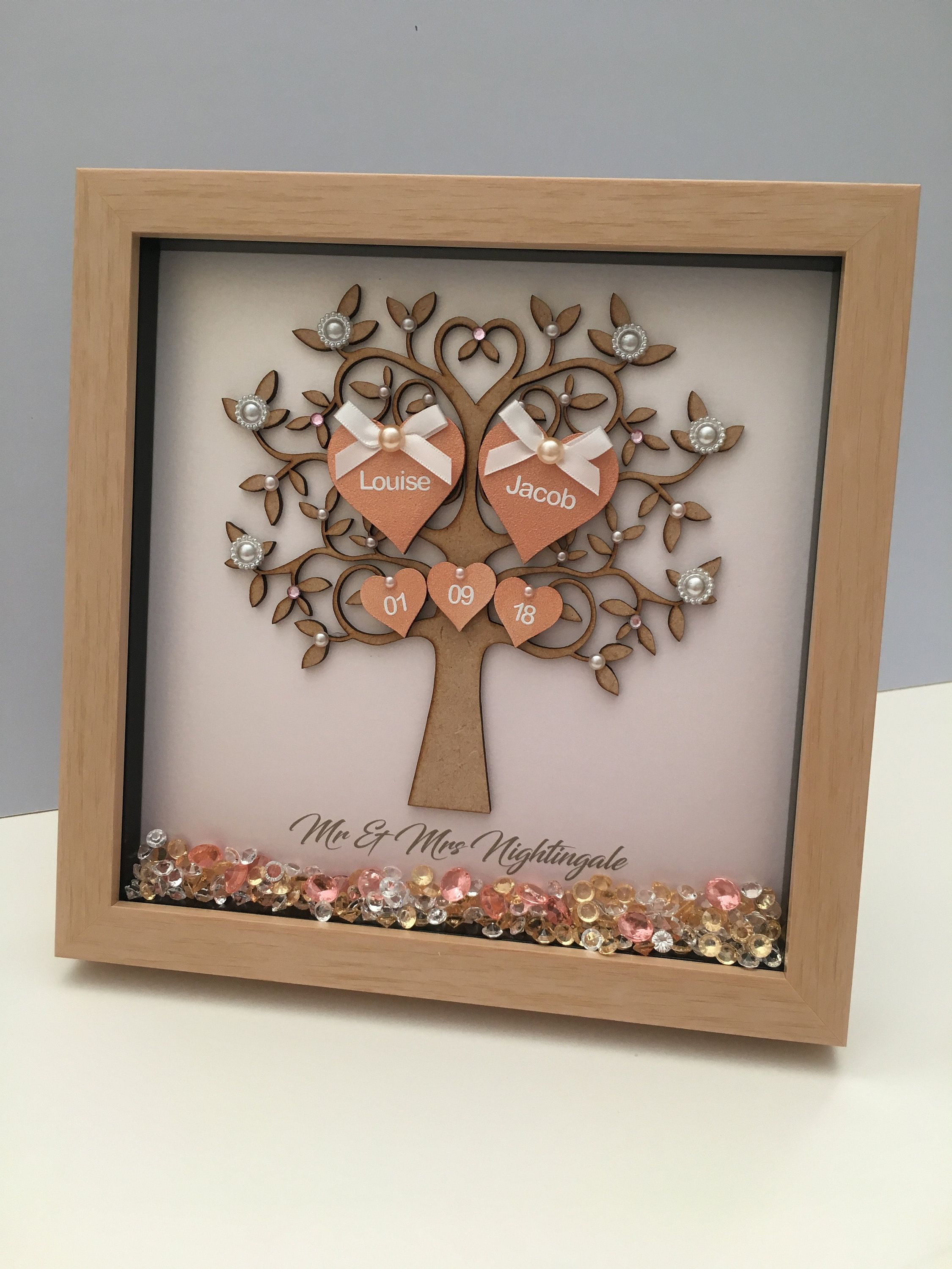 Wedding Gift Personalised Wedding Present Wedding Frame Gift