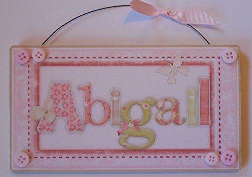 Groovy Butterfly Abigail Childs Bedroom Door Plaque Sign Wood Home Interior And Landscaping Oversignezvosmurscom