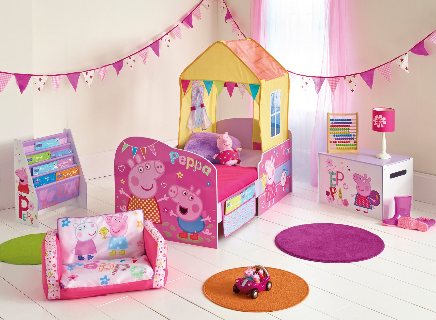 Fill Their Room With Friends The Peppa Pig Bedroom Furniture Range By Hellohome Whether They Are Tidying Up After A Day Of Splashing In Muddy Puddles