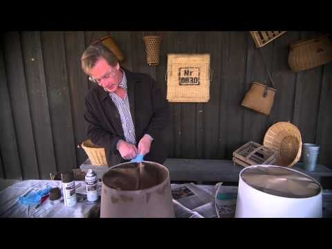 Painting lampshades at home with p allen smith