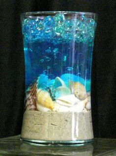 Water Beads With Sand And Shells