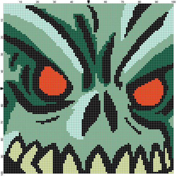 zombie cross stitch pattern pdf by CrossStitchGraphghan on Etsy