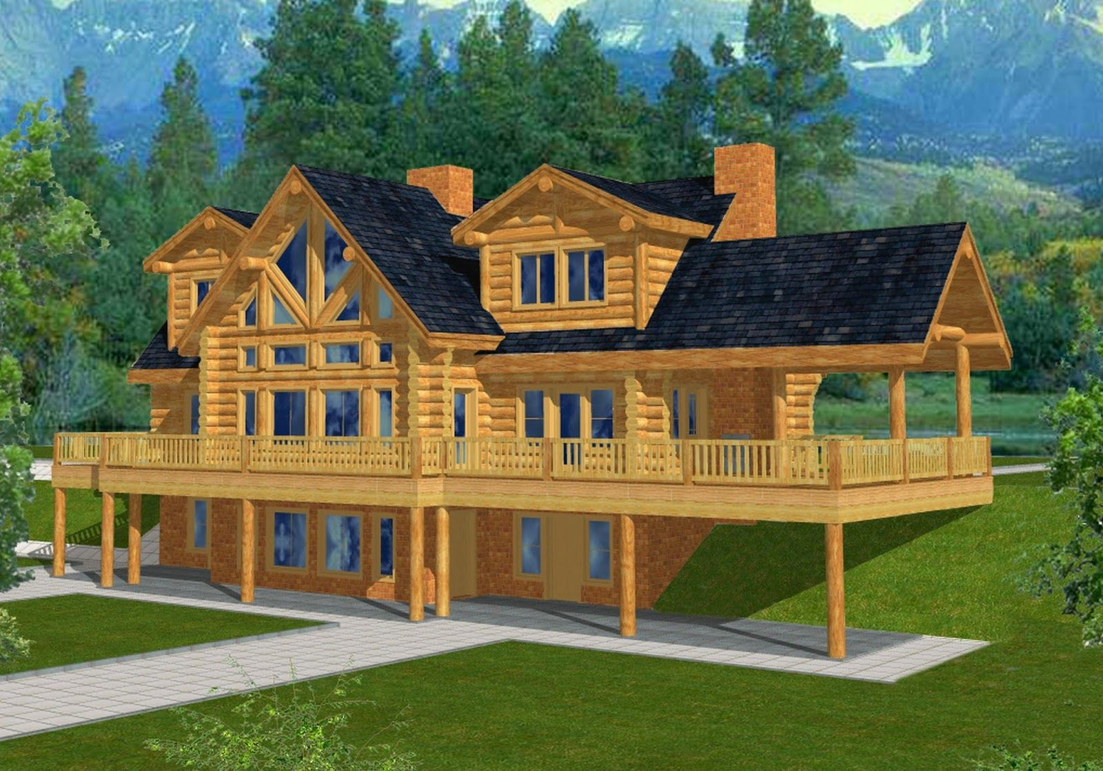 House Planswith Basements Mountain Home Plans Walkout Basements Home Ideas Ranch House Plans Walk Bas Log Home Plan Cute Minecraft Houses Easy Minecraft Houses