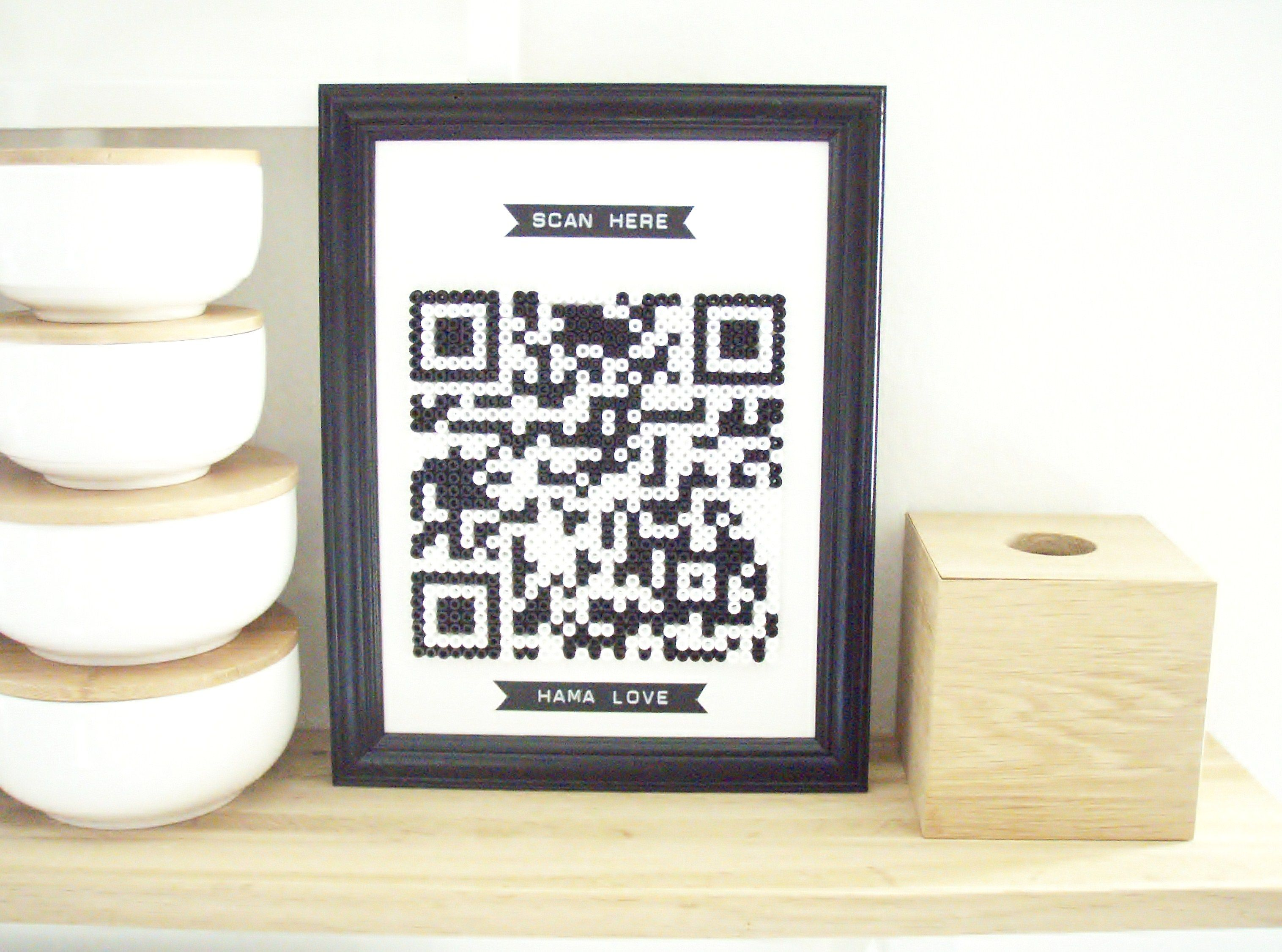 HAMA goes QR DIY  by monsterscircus  If you have a tablet or a smartphone, try to click the photo and scan!