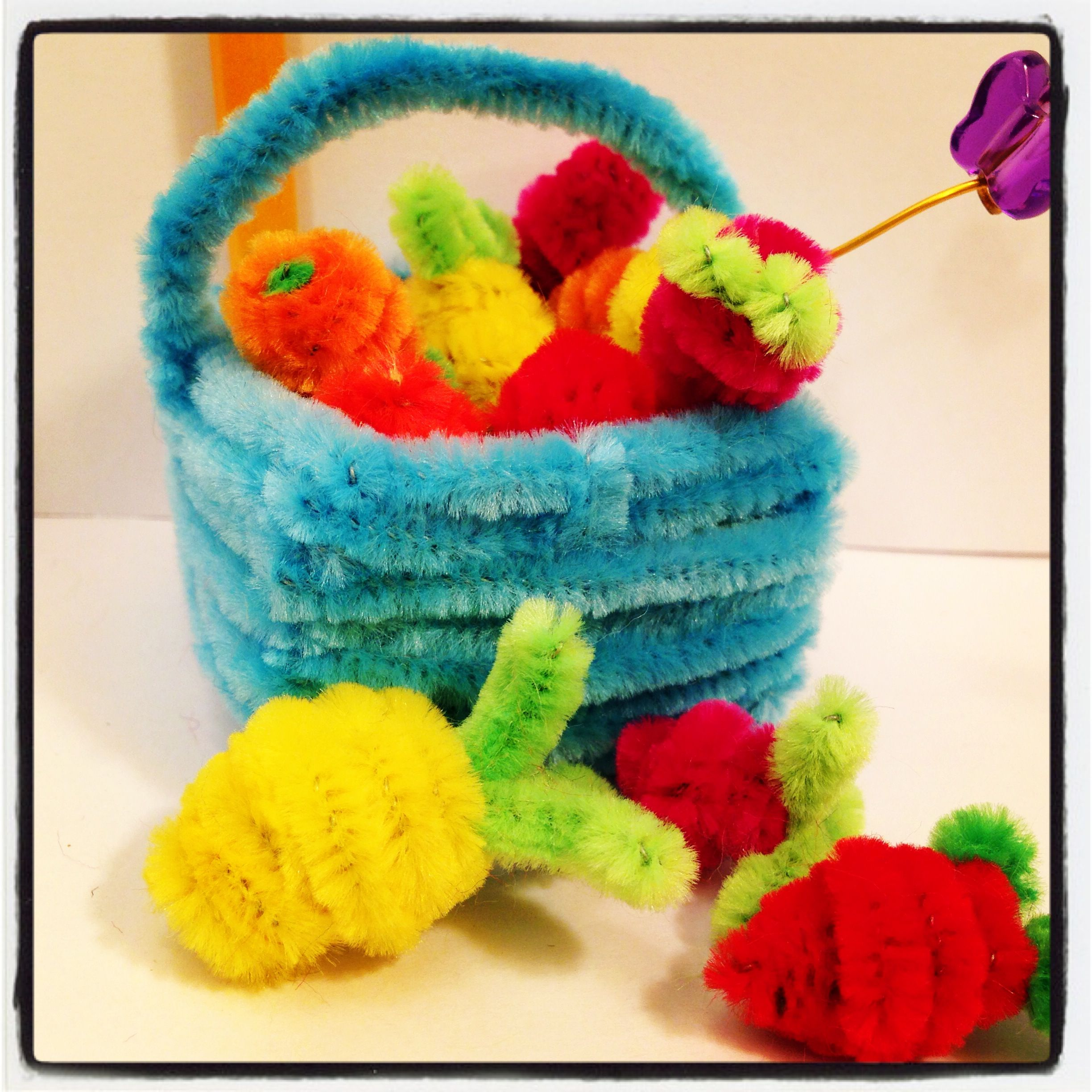 Fruit Basket Art And Craft : Pin by elena barsky on pipe cleaner crafts