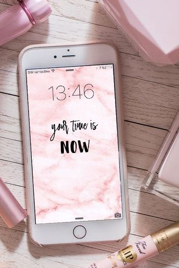 Phone Wallpaper Girls Marble Pink Beauty Iphone