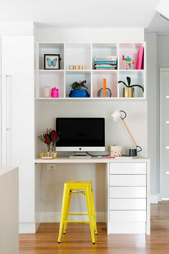 wie k nnen sie ein kleines b ro einrichten arbeitsplatz pinterest b ro eingerichtet. Black Bedroom Furniture Sets. Home Design Ideas