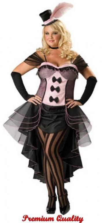 Burlesque Babe Plus Size Costume Pinterest Costumes Ruffle Trim