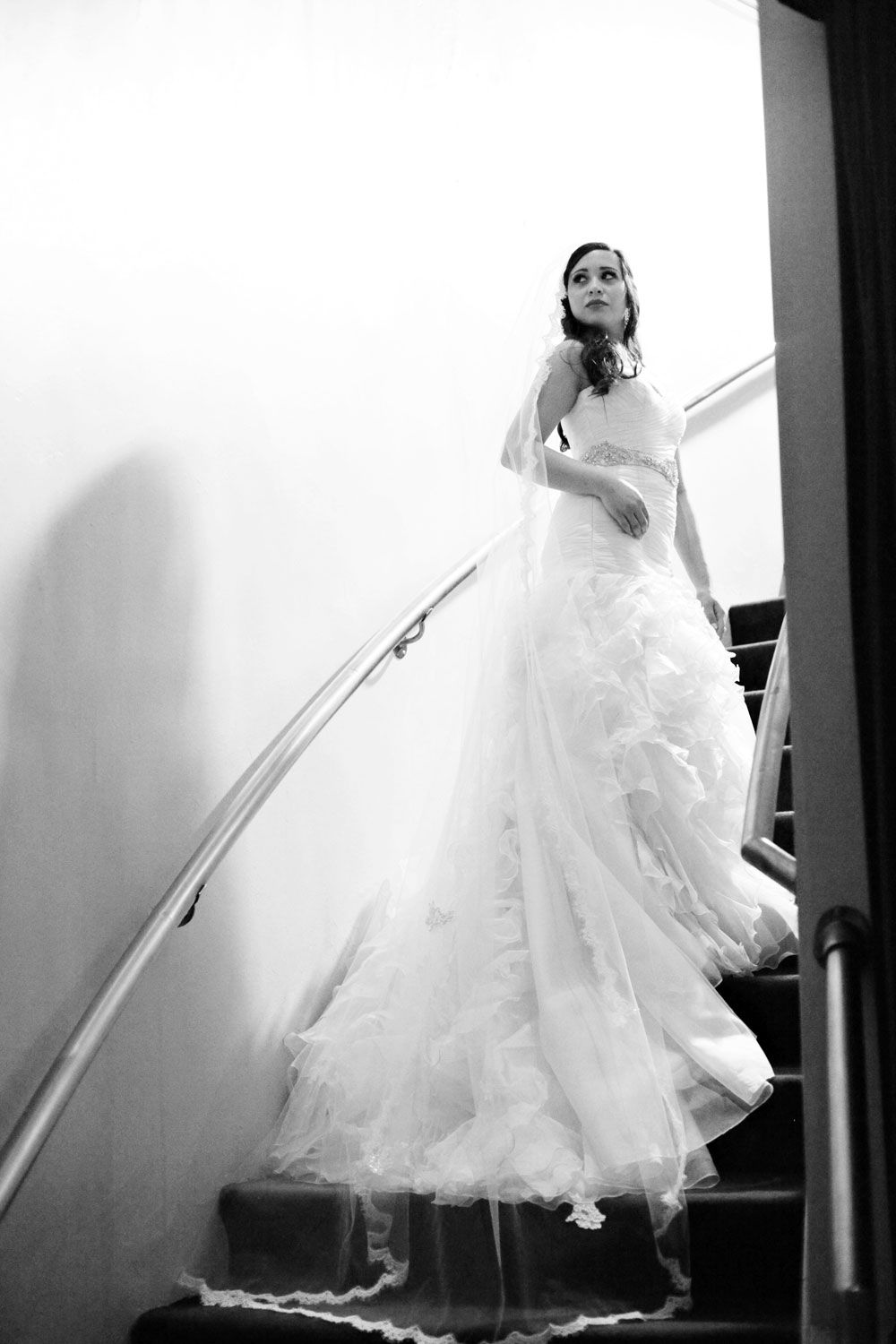 Wedding dresses with ruffles on skirt  Anne Barge wedding dress with ruffled skirt  Alta Moda Bridal