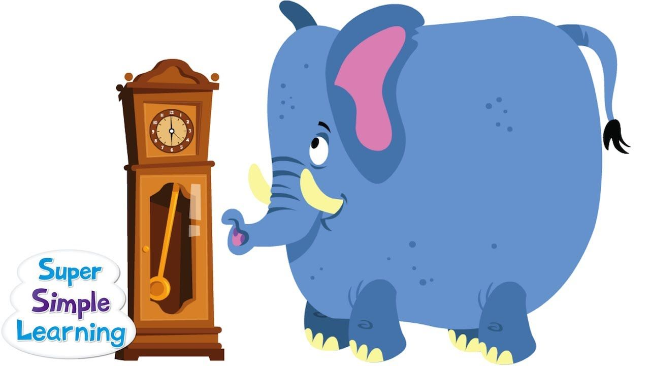 Hickory Dickory Dock from Super Simple Songs | Education | Pinterest ...