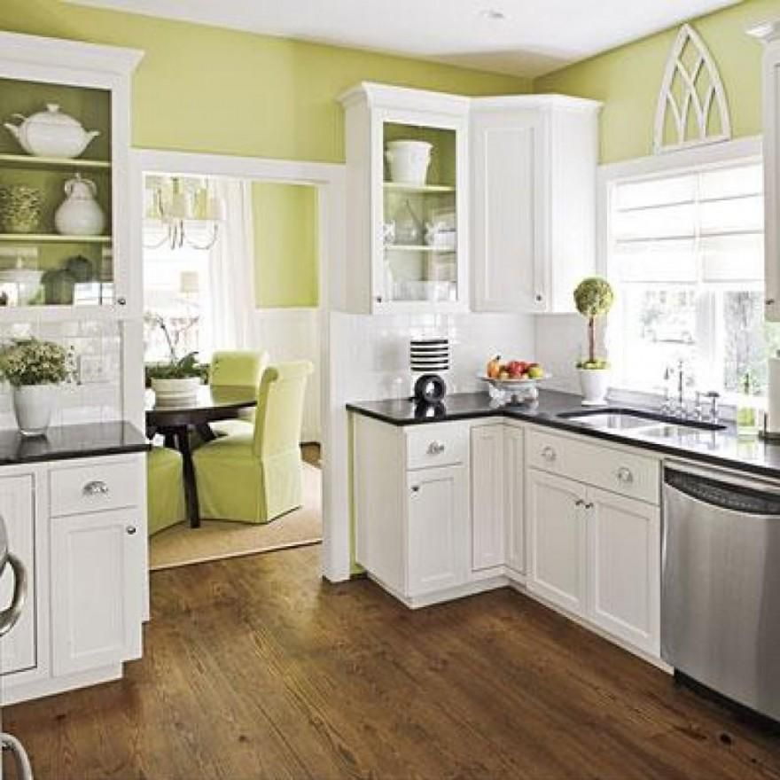 White Oak Cabinets Look Very Soft And Attractive. Moreover, When They Are  Combined With Soft Green Wall Color Idea, It Looks More Fabulous.