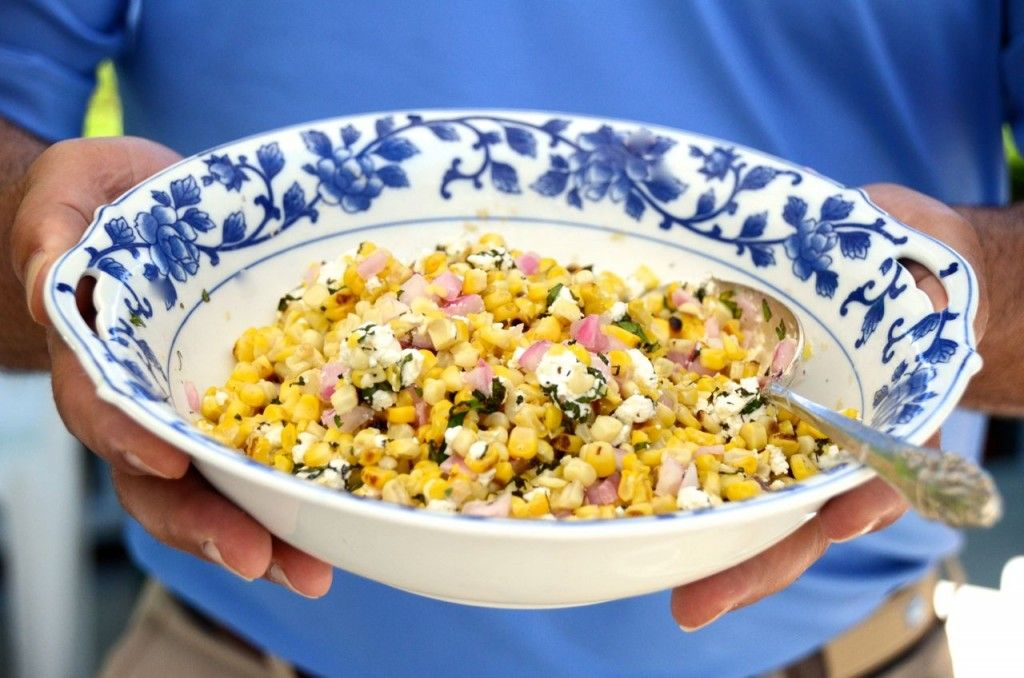 Grilled Corn Salad with Mint, Maureen Abood