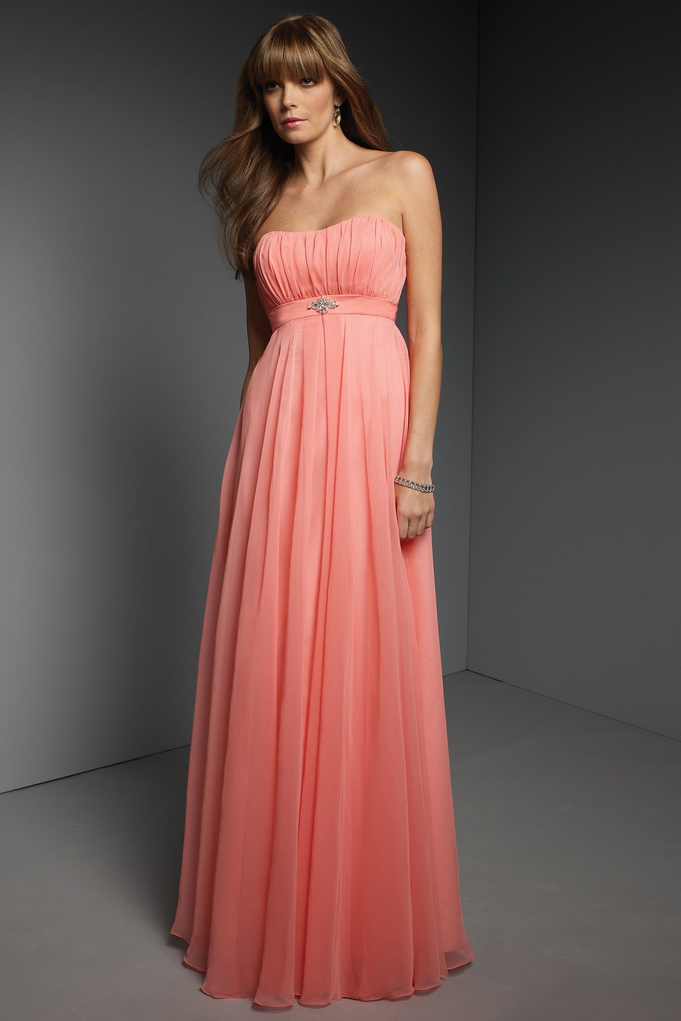 Bridesmaid Dress; Ombre coral wedding dress. | He put a ring on it ...