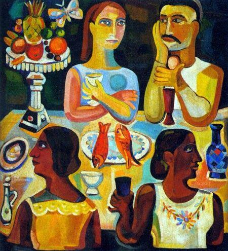 Rene Portocarrero - La Cena 1942