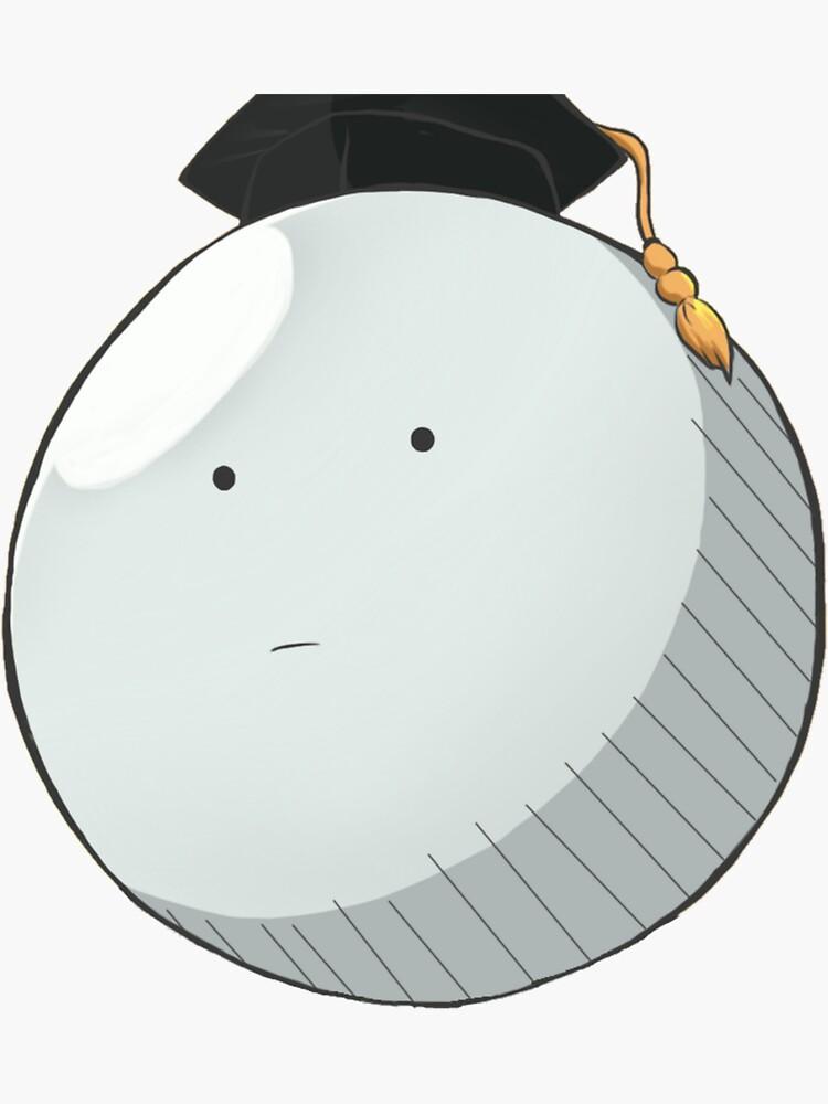 Assassination Classroom Koro Sensei Bruh Face Sticker By Anna Blonwell In 2021 Assassination Classroom Koro Assassin