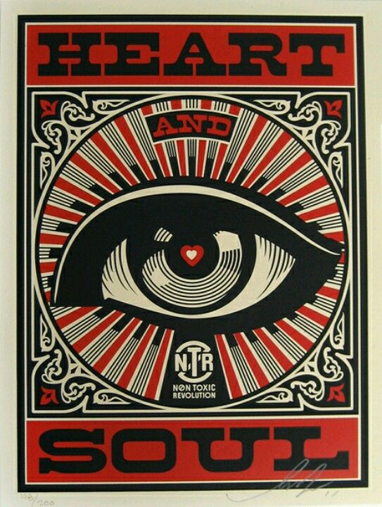 Heart and Soul by Shepard Fairey | Art I like in 2019 ...