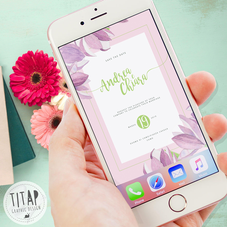 Partecipazioni Matrimonio Whatsapp.Save The Date Digitale Invito Nozze Digitale Invito Whatsapp