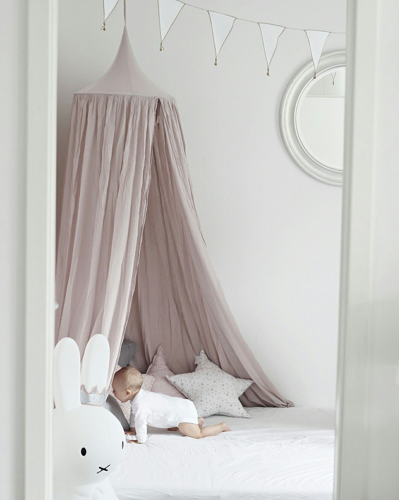 Numero 74 Powder Canopy Miffy Lamp Star Pillows Via