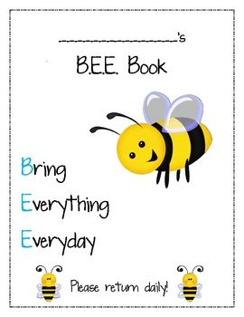 place this in the front of their binder   stands for bring everything everyday has planner homework folder and anything also book cover sheet preschool rh br pinterest