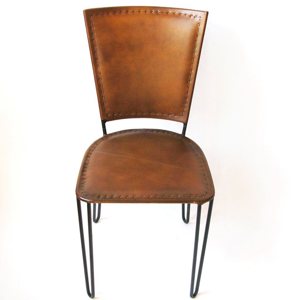 Summer furniture collection leather covered dining chair