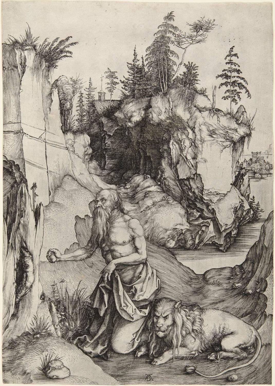 Albrecht Durer St. Jerome in the Wilderness