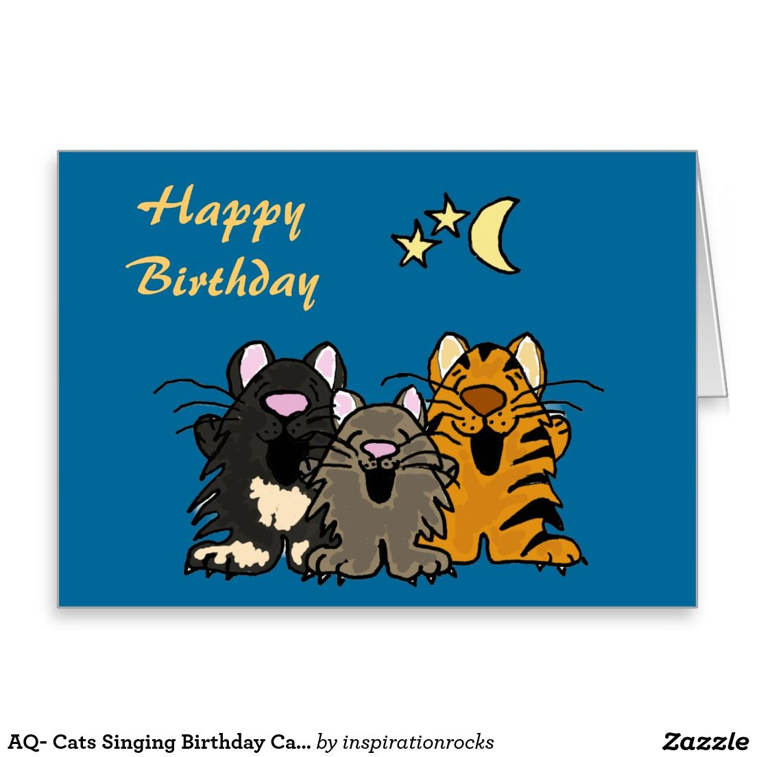 Aq Cats Singing Birthday Card Online Favorites
