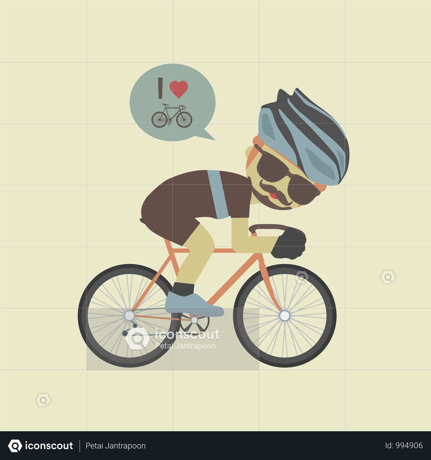 Premium Hipster Cyclist Illustration Download In Png Vector Format Illustration Hipster Artist Hipster