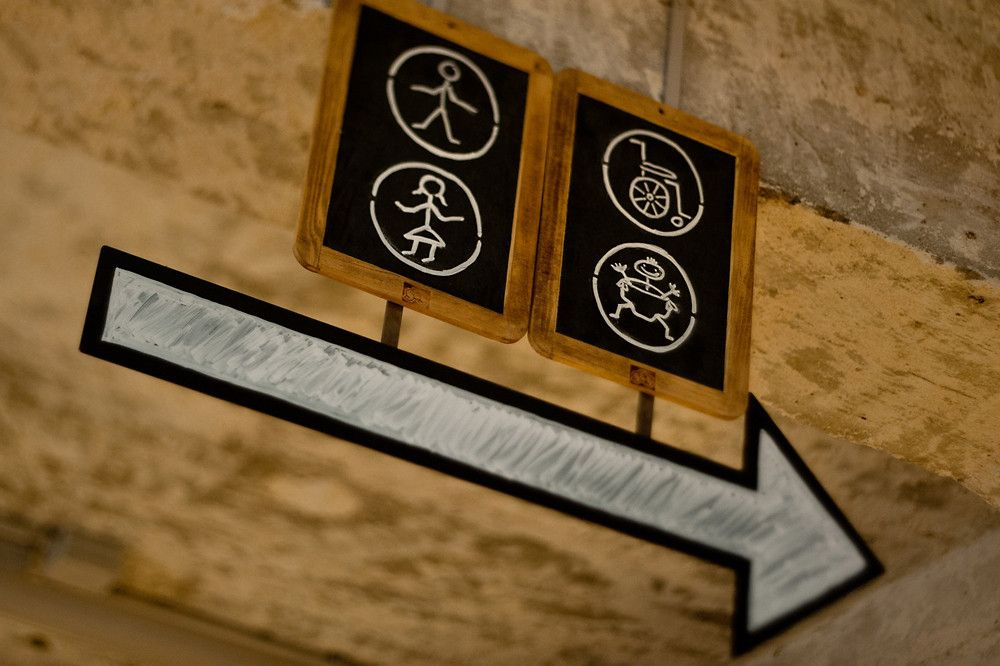 Love the hand drawn signage...it matches my  hand drawn visual elements of Avis