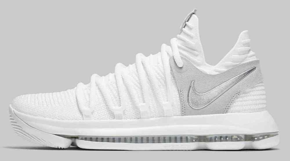 26e8fab3189 Nike Zoom KD 10 White Chrome Pure Platinum Men s Basketball Shoes Size 10.5   shoes  shoesformen  mensshoes  coolshoes