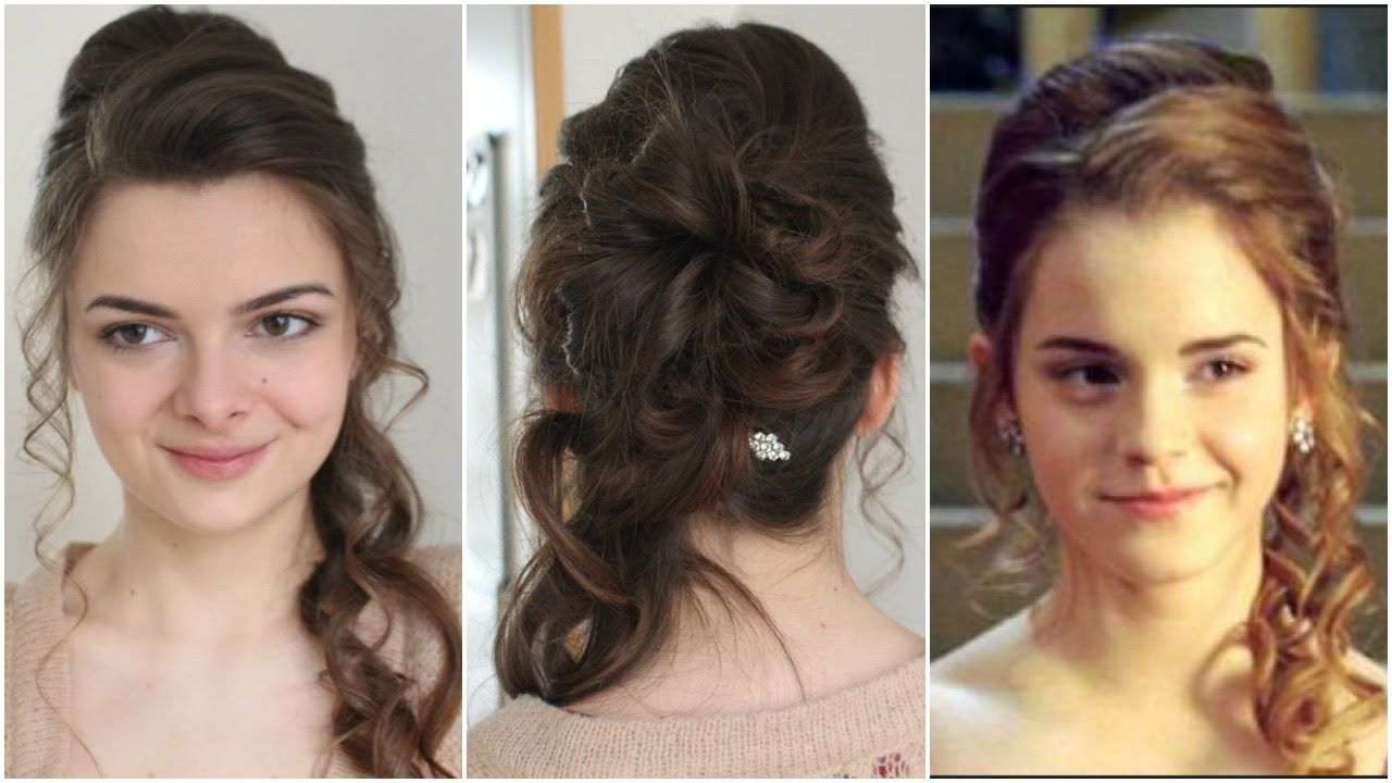 Hermione's Yule Ball Hair Tutorial Ball hairstyles, Hair