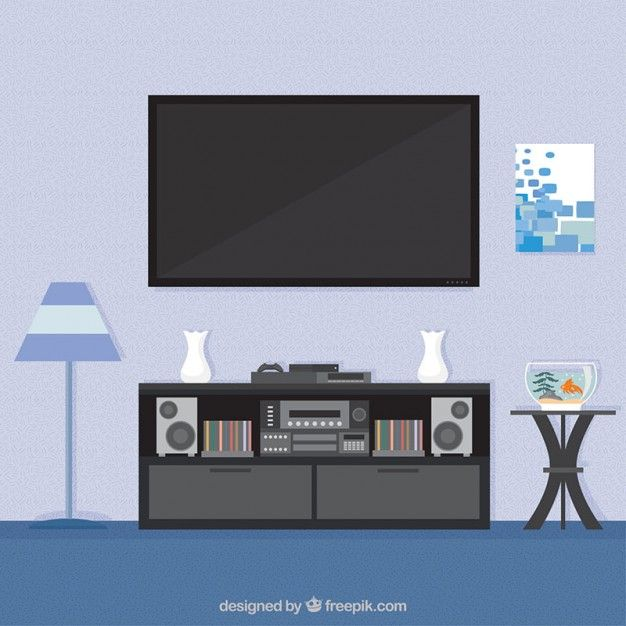 Living Room Interior Free Vector