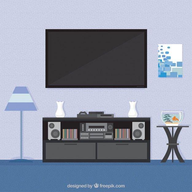 Living room interior Free Vector Interiors Pinterest Living