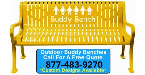 Diamond Pattern Roll Form Bench is a perfect choice for designing a Buddy Bench for your school or playground.