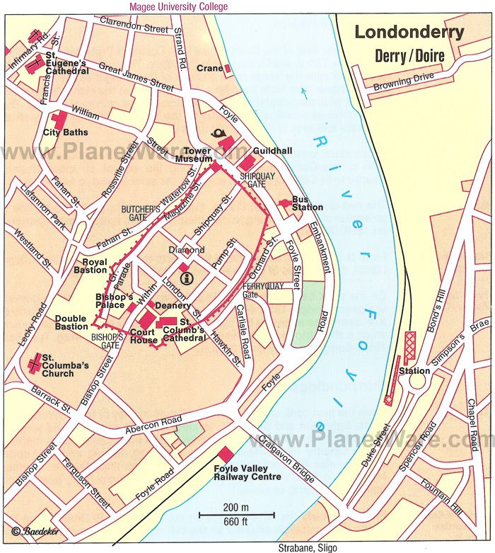 Londonderry Map Tourist Attractions Pinterest