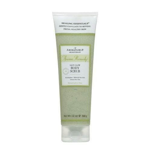 AROMA REMEDY by Aromafloria: SALT GLOW BODY SCRUB 12 OZ BLEND OF EUCALYPTUS, MINERAL SEA SALTS, AND GREEN SEA CLAY (PRESERVATIVE FREE) by Aroma. $13.49. Design House: Aromafloria. AROMA REMEDY by Aromafloria SALT GLOW BODY SCRUB 12 OZ BLEND OF EUCALYPTUS, MINERAL SEA SALTS, AND GREEN SEA CLAY (PRESERVATIVE FREE)