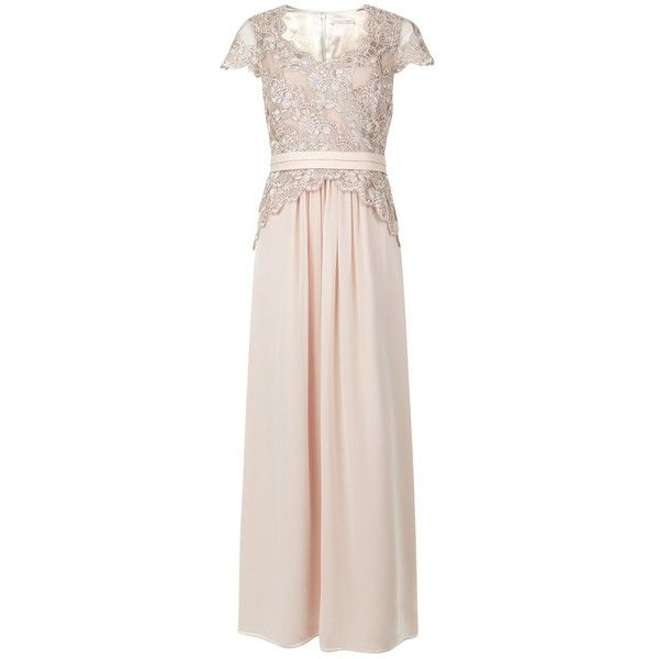 Jacques Vert Lace Chiffon Gown, Champagne And Other