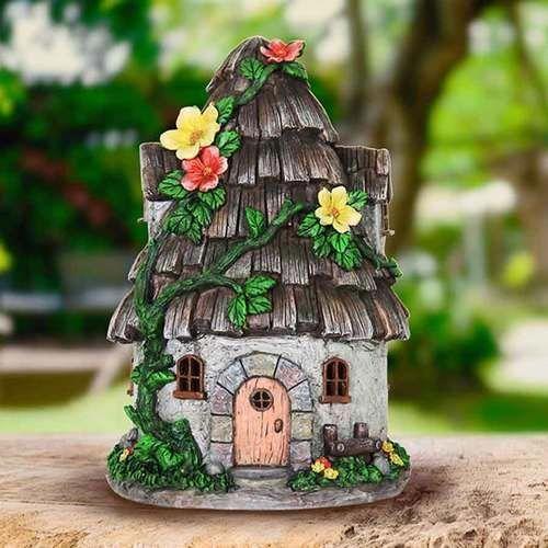 Best Solar Wood Shingle Roof Fairy House Solar Fairy House 400 x 300