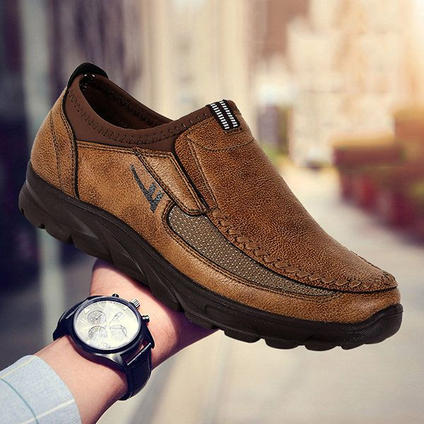 57a8e4c4716c Men Large Size Hand Stitching Microfiber Leather Non-slip Casual Shoes  men   women