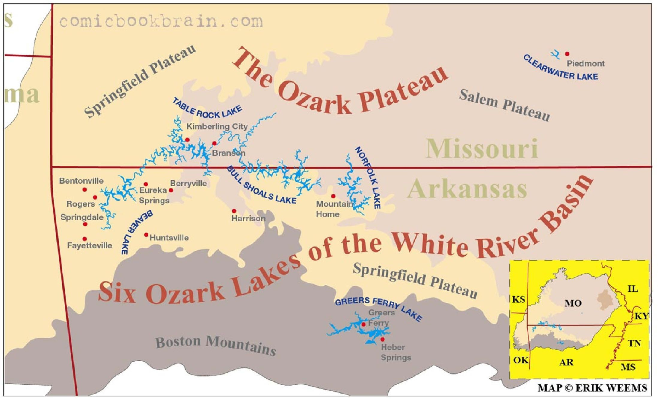 Ozark Mountain Are A Safe Refuge Area For Christian Preppers A - Bentonville ar on us map