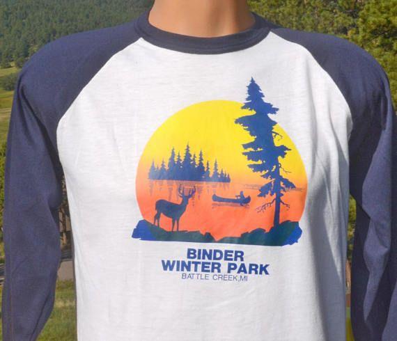 Vintage 80s T-shirt Binder WINTER PARK Battle Creek