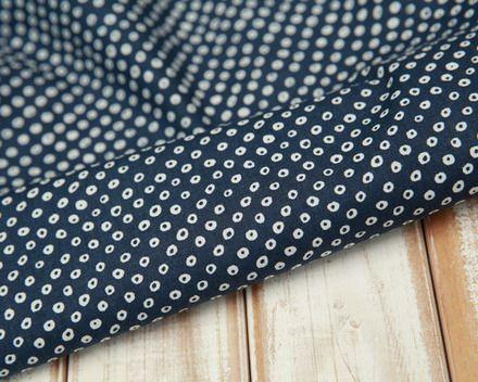 Grand tissu japonais en coton de bonne qualité, couleur bleu nuit motif traditionnel géométrique blanc, idéal pour vos créations couture et les loisirs créatifs. Tissu confor - 8399115