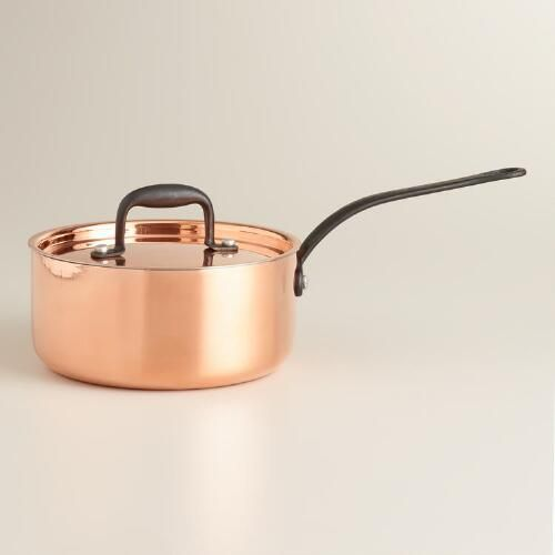 One of my favorite discoveries at WorldMarket.com: Copper 2-Quart Saucepan