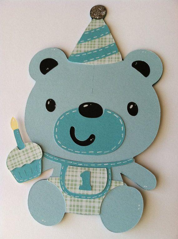 First Birthday Card Happy Birthday Card Teddy Bear Card 1 Card – Birthday Card Bear
