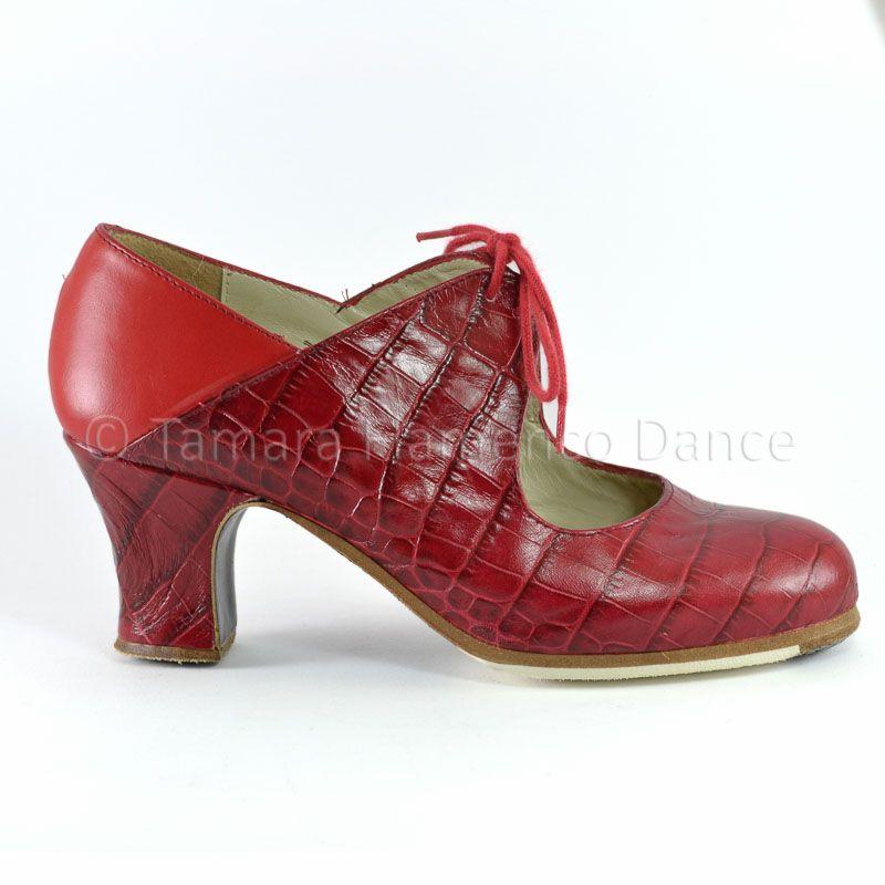 piel flamenco Modelo en con Cervera Begoña profesional de de roja piel Arty cocodrilo rojo Zapato fqwPSn1aS