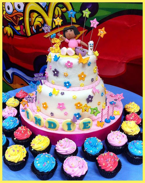 Sensational Dora The Explorer Cake Cake Personalised Birthday Cards Xaembasilily Jamesorg