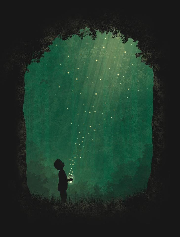 Watching the fireflies in Summer