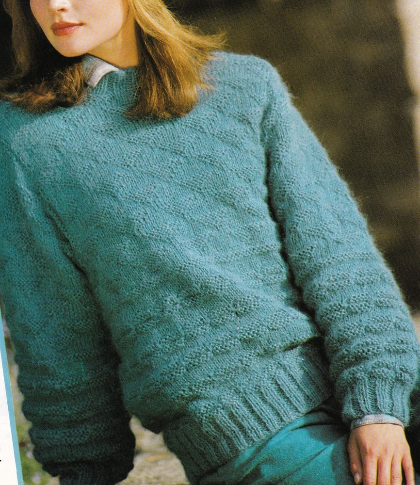 Vintage Knitting Pattern Original Instructions to Make a Ladies Chunky Jumper