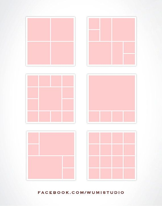 18 Storyboard Templates Colagem de Fotografias by WumiBrandDesign - digital storyboard templates