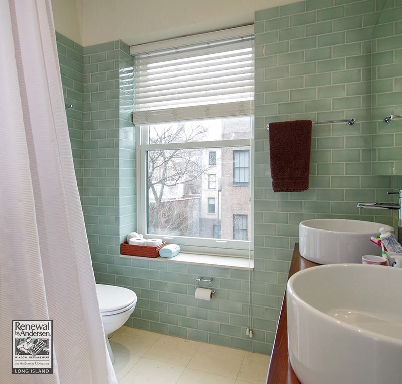A Really Nice Bathroom In A Brooklyn Home We Recently Put These Large  Double Hung